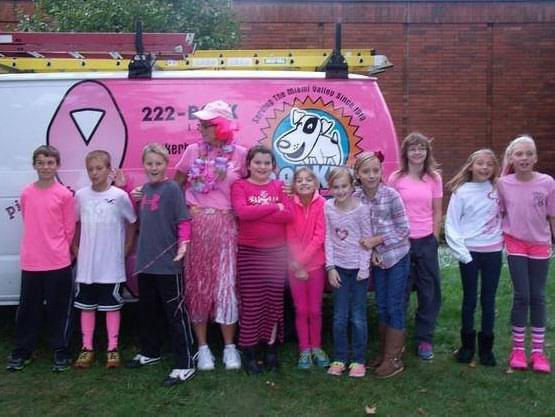 Barker Youth Support Pink RIbbon Girls